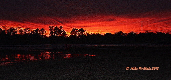 SUNSET OVER LITTLE RED WATER LAKE 6 JAN 2011