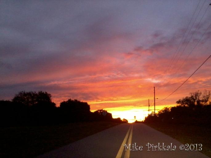 SUNSET DRIVING HOME 25 SEPT 13 BB